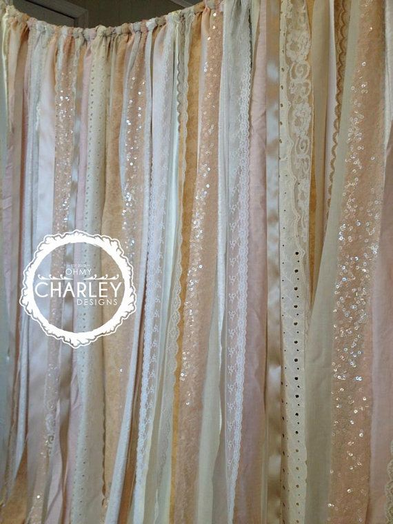 Champagne Ivory and Nude Sparkle Sequin Fabric Wedding