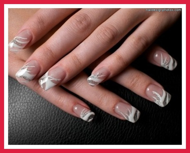 1000+ ideas about White Tip Nail Designs on Pinterest