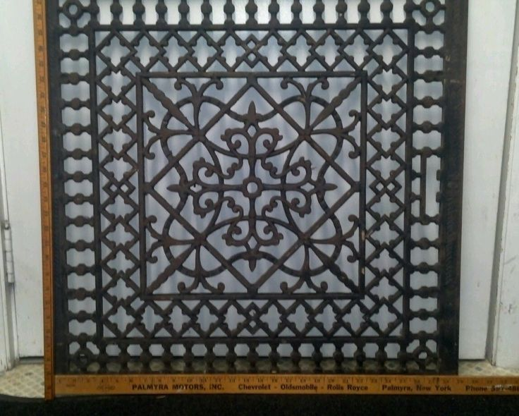 decorative chair covers wedding padded rocking large ornate metal heat grate antique vintage cast iron floor furnace | great grates ...