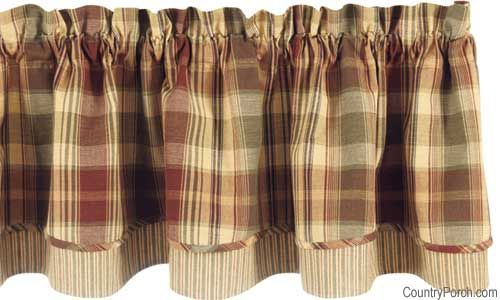 Saffron Layered Curtain Valance By Park Designs At The Country Porch Curtains Living Room