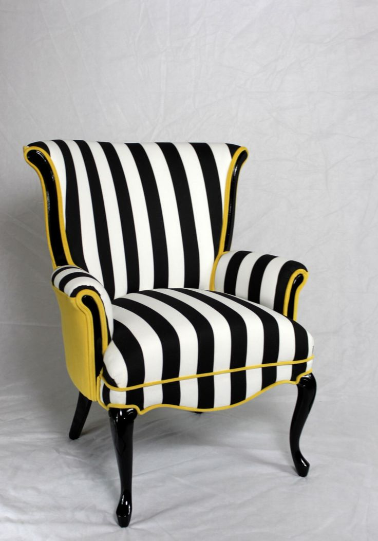 wingback chair upholstery ideas customized makeup chairs 25+ best about striped on pinterest | sofa, upholstered and blue ...