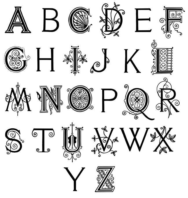 Fancy Alphabet Letters are from Vere Foster's Copy Books