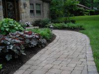 landscaping front walkways | Front Walkway with Plant ...