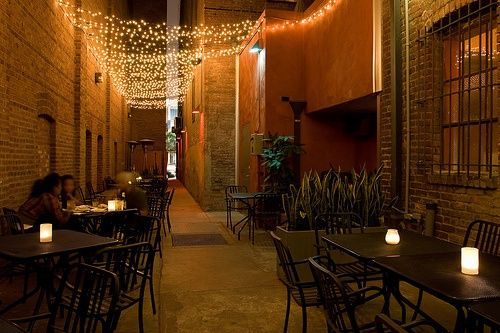 Restaurant Patio Lighting String Lights Over Patio