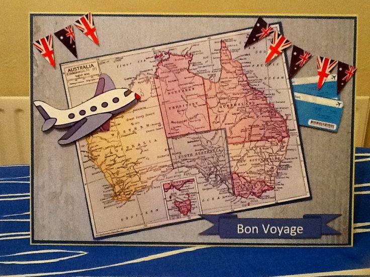 Bon Voyage Card Emigrating To Australia Personal Cards