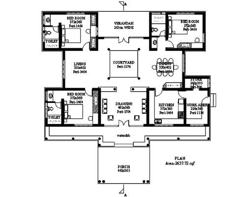 131 best images about Indian Courtyard House Plans on