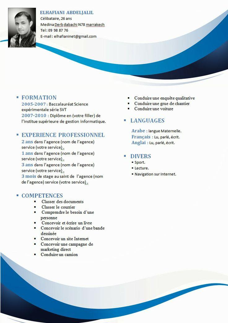 Cv Format Word Gratuit Free Resume Templates