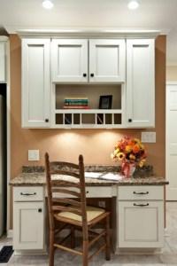 Built-in kitchen desk | Kitchen ideas | Pinterest | Dark ...