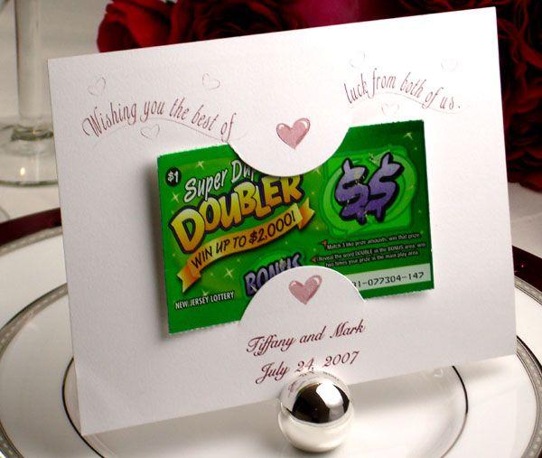 Lottery Ticket Holder Favours Wedding Ideas Pinterest
