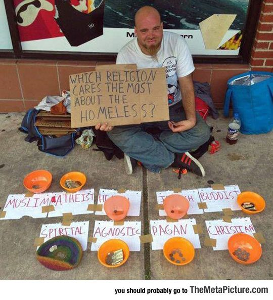 25 funny and clever homeless signs