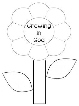 Bible Interactive Notebook Foldable: Growing in God (FREE