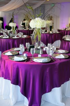 chair covers rental ottawa universal fishing attachments 25+ best ideas about purple tablecloth on pinterest | plum wedding decor, table cloth ...