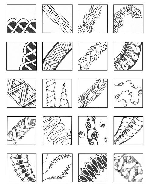 314 best images about Zentangle patterns on Pinterest