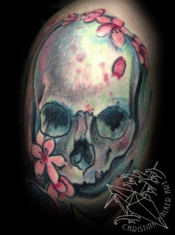 watercolor skull tattoo tattoos
