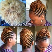 blondie flat twist updo hairstyles