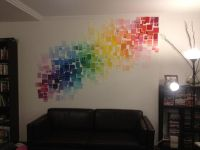 My new feature wall made from hundreds of paint colour ...