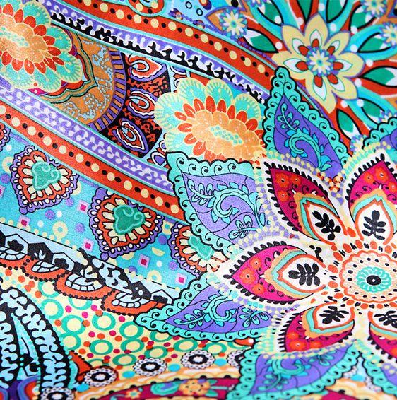 Fall Bohemian Fashion Wallpaper Bohemian Patterns Orange Silk Scarves In Modern Bohemia