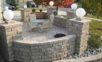 Retaining Wall Design pilers | Anchor Highland Stone ...