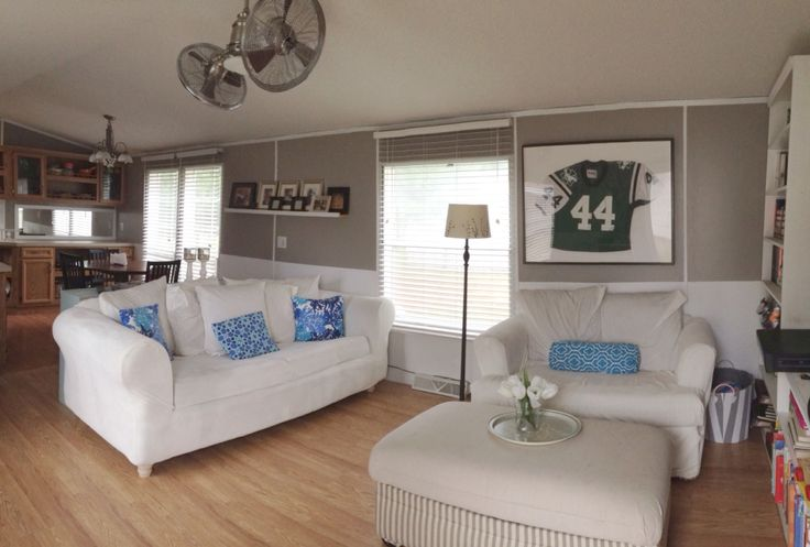 Single wide manufactured mobile home remodel makeover