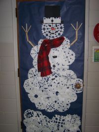 DIY Snowman classroom door decor for winter/Christmas