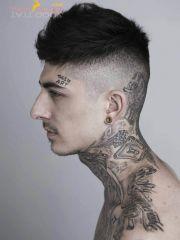 #tattoo #neck #music
