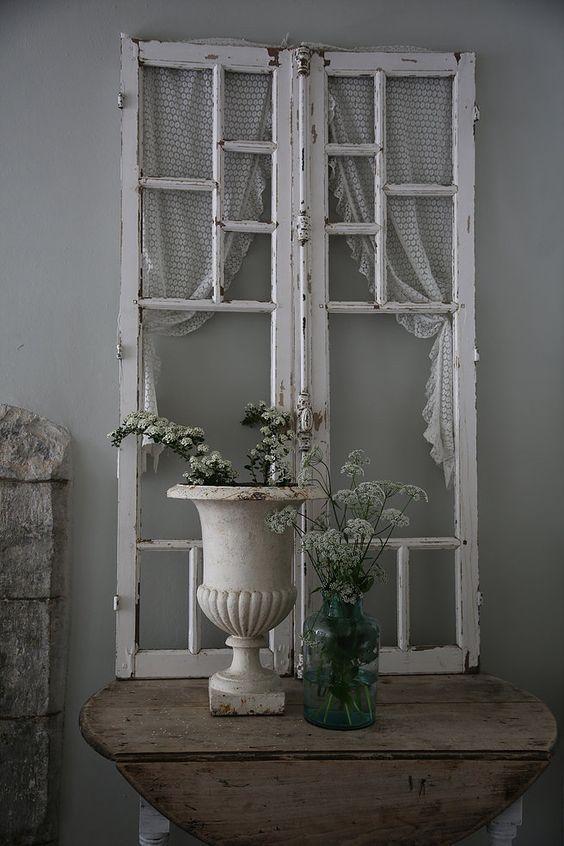15 Mustsee Old Window Decor Pins  Old window ideas Rustic window decor and Shutter decor