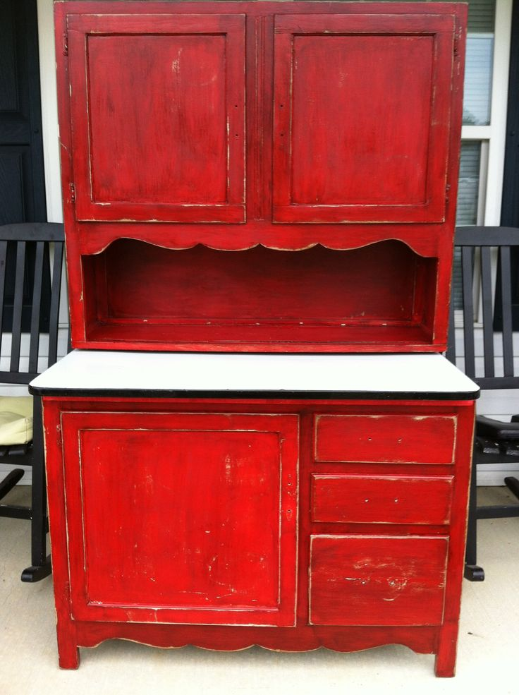 custom kitchen cabinet doors home depot antique hoosier i refinished and painted barn red ...
