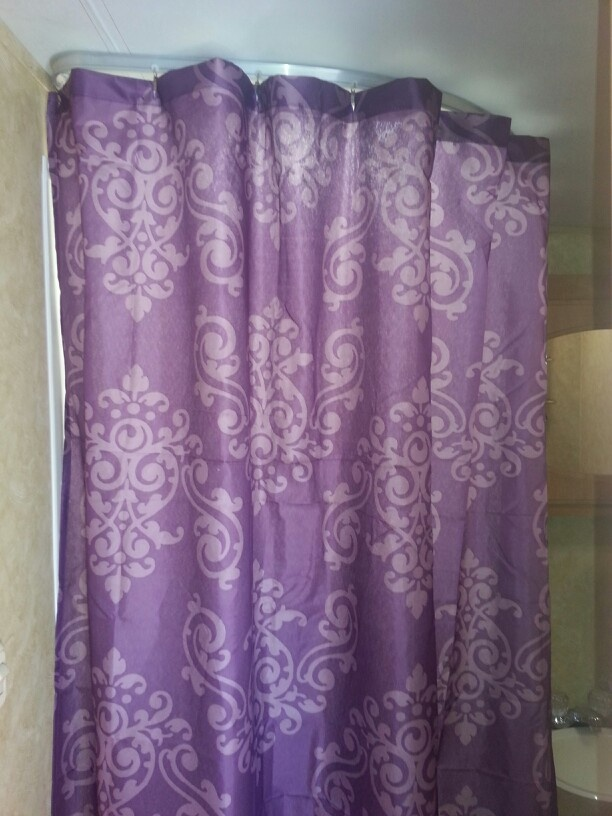 Silver Animal Print Wallpaper 6 Shower Curtain From Family Dollar And It S Purple