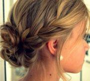 simple updo braid - bridesmaid
