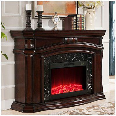 62 Grand Cherry Electric Fireplace At Big Lots4800 BTU