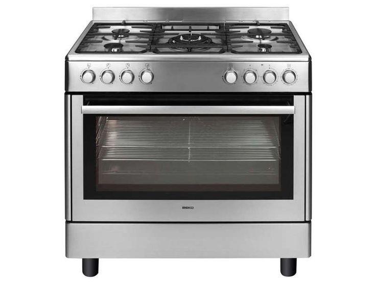 Maxi cuisinire 5 foyers BEKO GM 15121 DX coloris noir