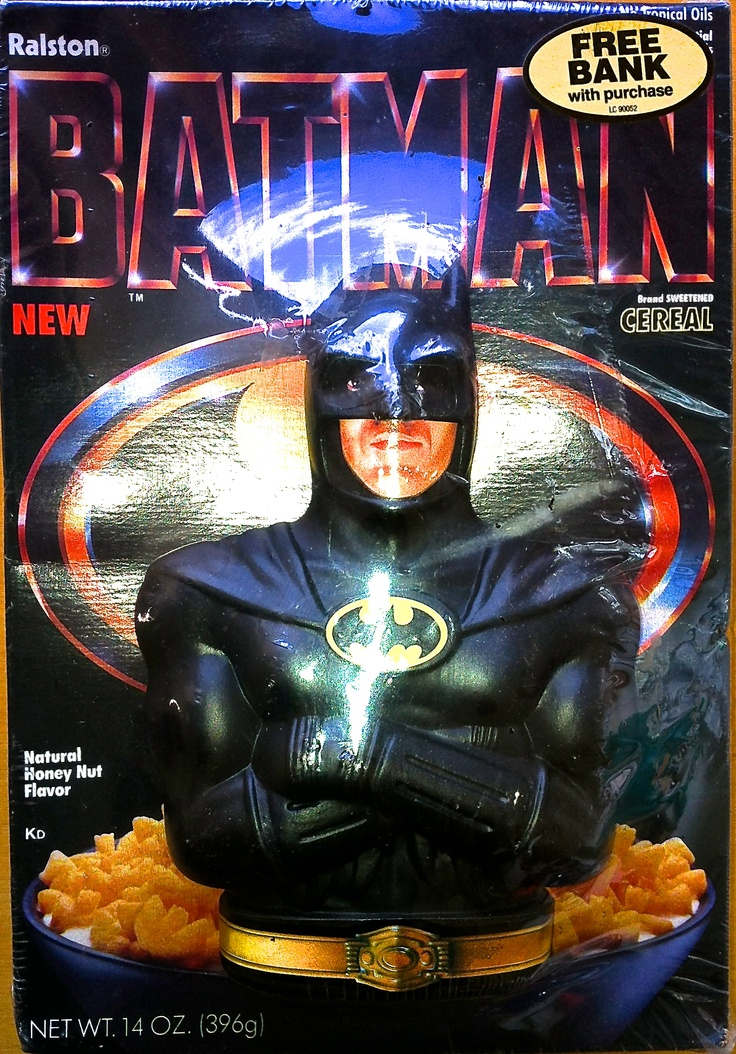 Batman Cereal  with Free Money bank  1989 Ralston