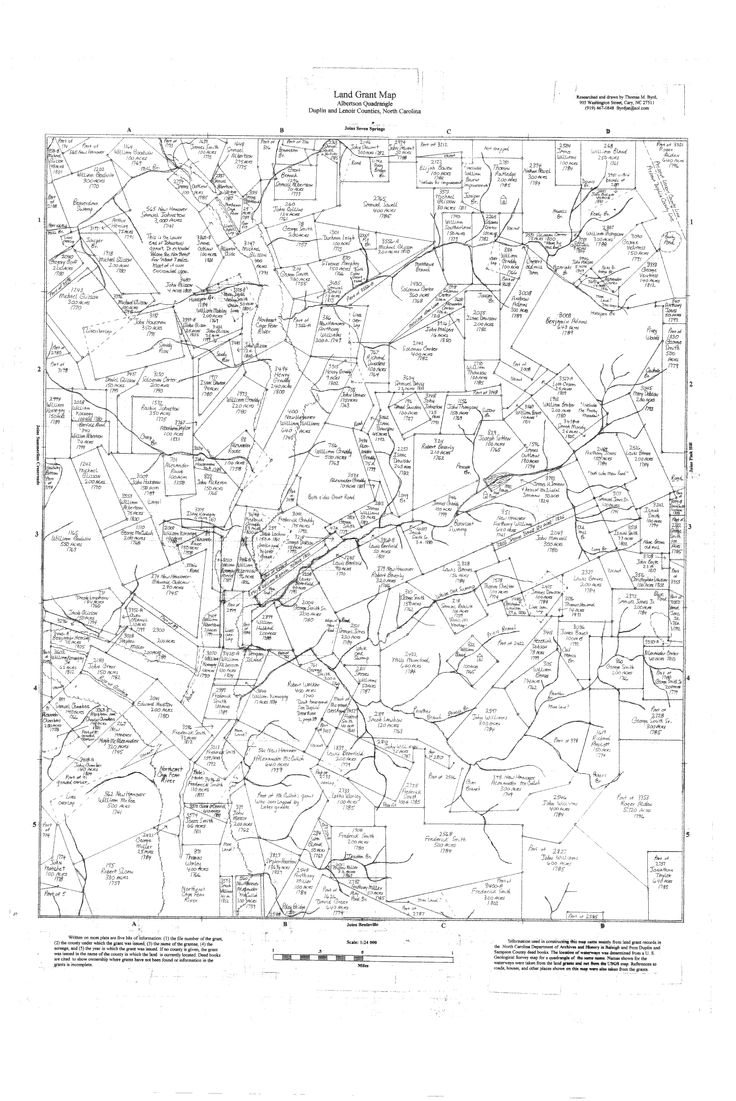 Land Grant Map Search by the Duplin County Register of