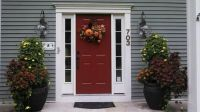 New front door color: Benjamin Moore Carriage Red. House ...