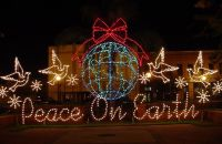 Peace On Earth exterior light display -- beautiful ...