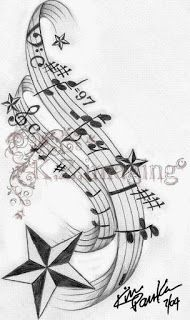 17 Best ideas about Music Staff Tattoo on Pinterest