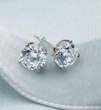 Monique Lhuillier diamond stud earrings. Available ...