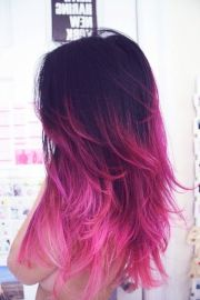 ombre hair brown purple