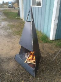 Outdoor metal fire pit.: |   | Pinterest ...