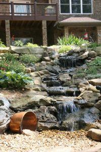 DIY backyard creek   Ponds   Pinterest   Backyards ...