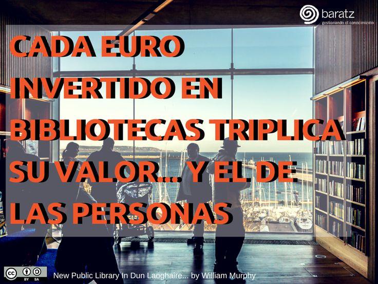 Cada euro invertido en bibliotecas triplica su valor... y el de las personas