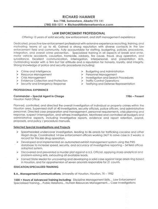 Warrant Officer Resume Examples - Examples of Resumes - media officer sample resume