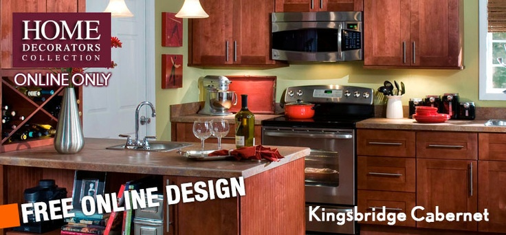 kitchen island home depot renovating decorators online cabinetry - kingsbridge cabernet ...