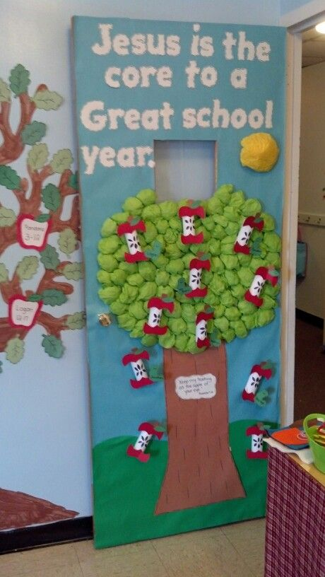 Preschool back to school door