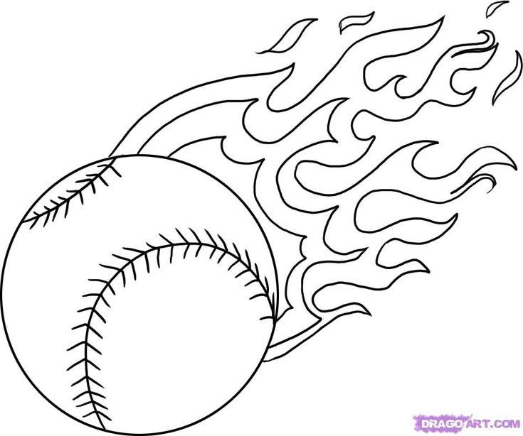 Baseball | flaming baseball