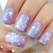 ideas snowflake nails