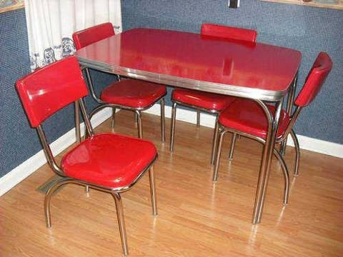 1950s formica kitchen table and chairs making cabinet doors 1000+ images about chrome dinette ...
