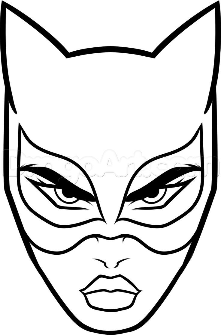 How to Draw Catwoman Easy, Step by Step, Dc Comics, Comics