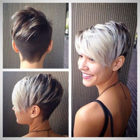 Undercut short hair: