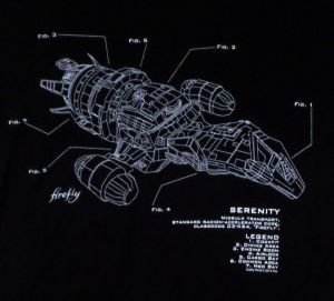 Firefly Girls TShirt  Serenity Ship Diagram | Shirts